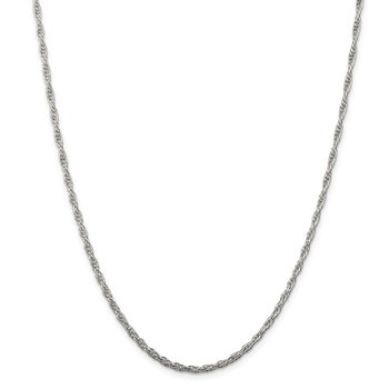Sterling Silver 2.5mm Loose Rope Chain