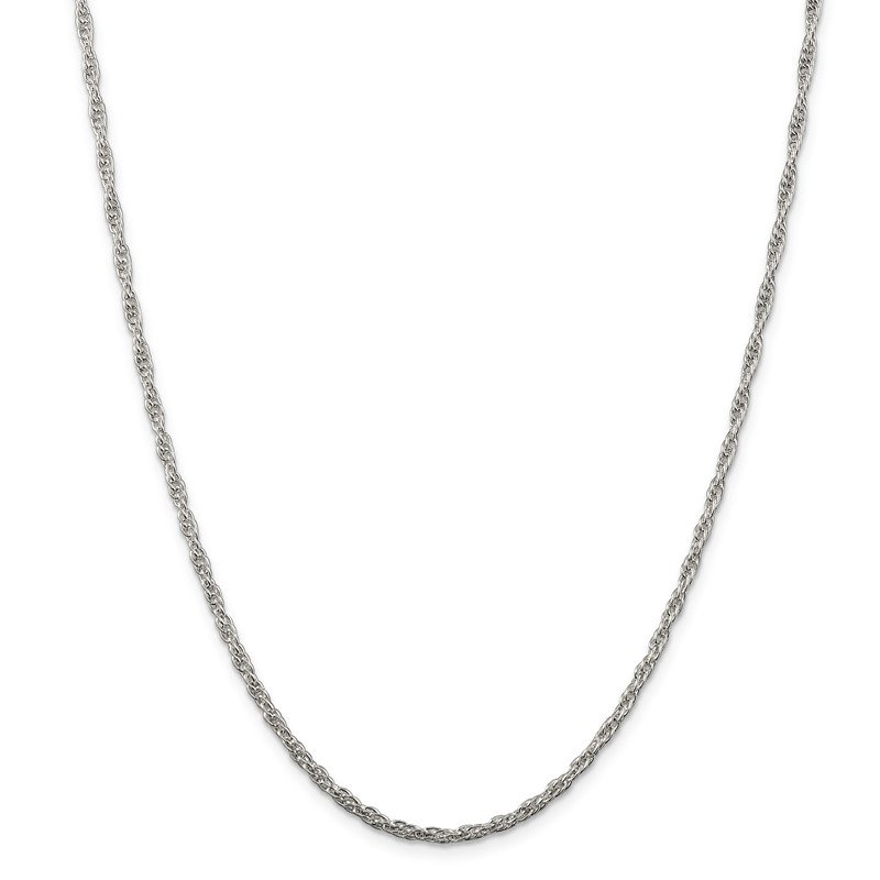Quality Gold Sterling Silver 2.5mm Loose Rope Chain
