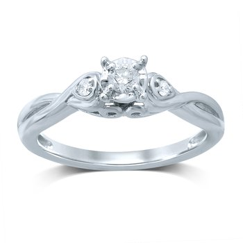 14K 0.19Ct Diamond Ring
