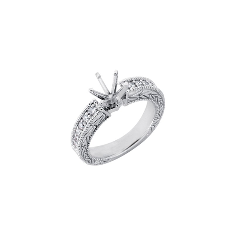 S. Kashi & Sons Bridal White Gold Bridal Ring