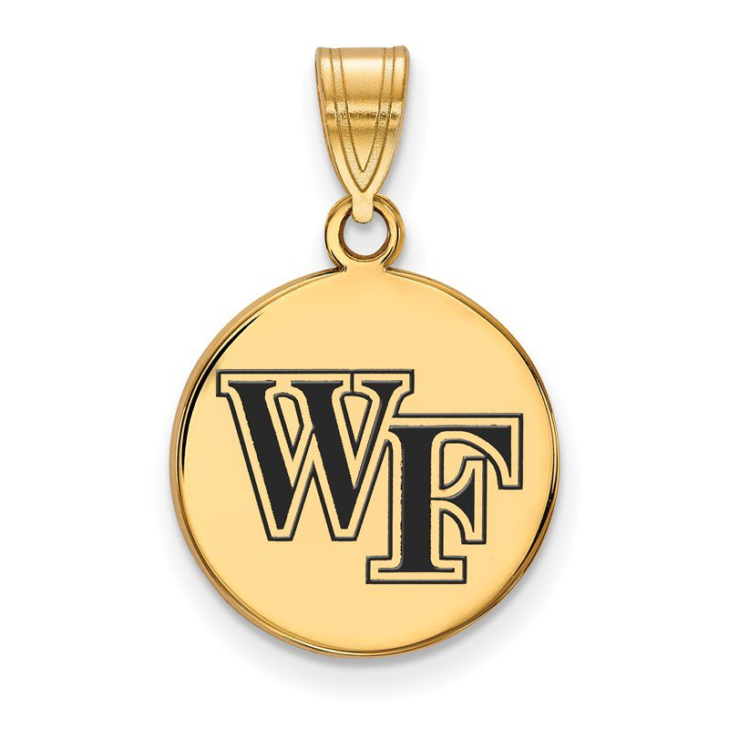 NCAA Gold-Plated Sterling Silver Wake Forest University NCAA Pendant