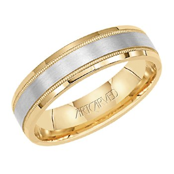 "14K Two-Tone ""Everlove"" Comfort Fit Wedding Band"