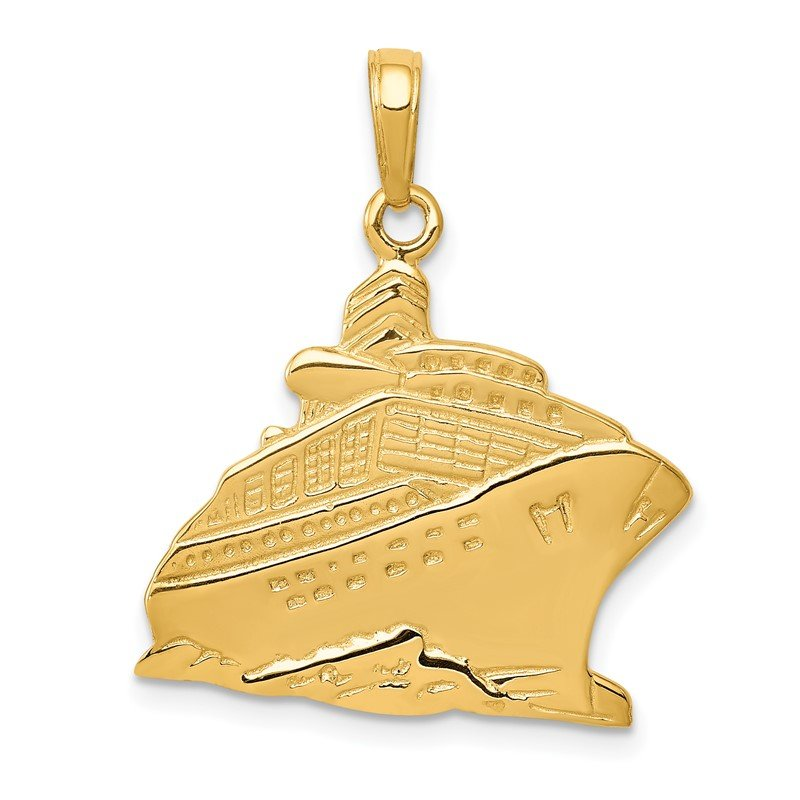 Quality Gold 14k Cruise Ship Pendant