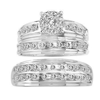 14K 1.08Ct Diamond Trio Set