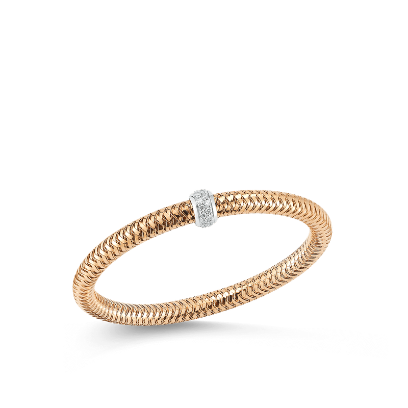 Roberto Coin  #26570 Of 18Kt Gold Diamond Bangle