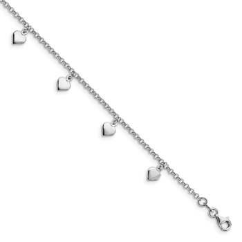 Leslie's Sterling Silver Adjustable Anklet (9-10)