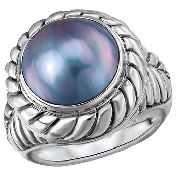Ladies Mabe Pearl Ring