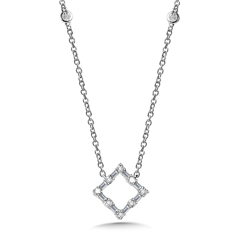 SDC Creations Square Baguette Diamond Necklace