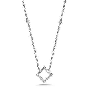 Square Baguette Diamond Necklace
