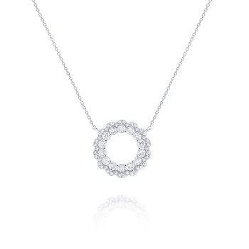 Diamond Circular Loop Pendant Set in 14 Kt. Gold