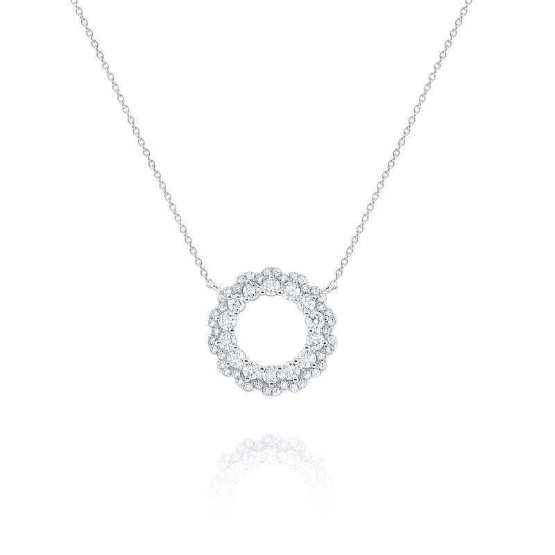 KC Designs Diamond Circular Loop Pendant Set in 14 Kt. Gold