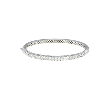 18Kt Gold Bangle With Diamonds