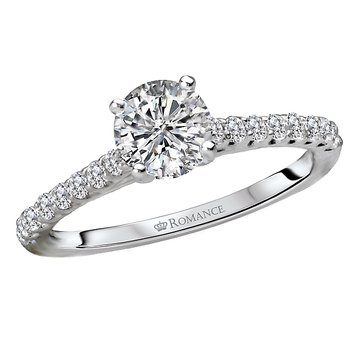 Classic Diamond Ring with Center Stone