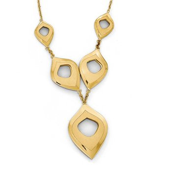 Leslie's 14k Polished and Brushed w/2in ext. Necklace