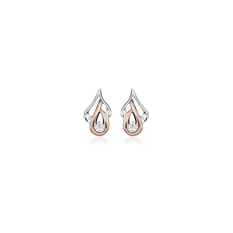 LARUS Jewelry Discrete Pink and White Studs