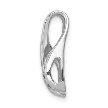 14k White Gold AAA Diamond Semi-mount Peg Slide