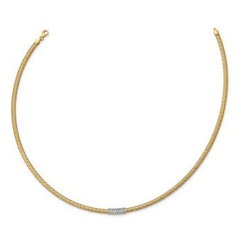 14K Stretch CZ Mesh Necklace