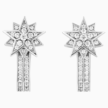 Penélope Cruz Moonsun Pierced Earring Jackets, Limited Edition, White, Rhodium plated
