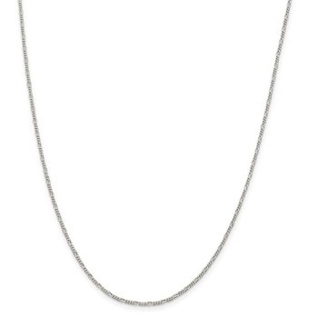 Sterling Silver 1.4mm Figaro Chain