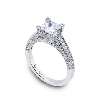 Kirk Kara Platinum Diamond Engagement Ring