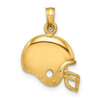 14k Football Helmet Pendant
