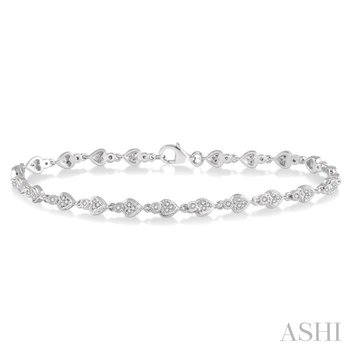 diamond heart shape bracelet
