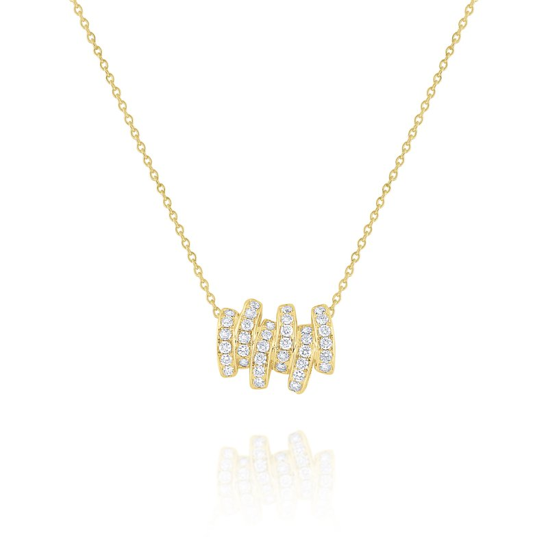 KC Designs Diamond Scattered Line Pendant Set in 14 Kt. Gold