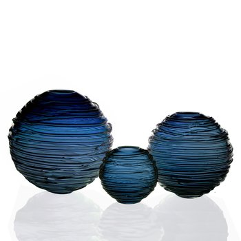Sophie Vase Steel Blue Collection