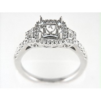 14K W RING 50RD 0.37CT 2BG 0.19CT