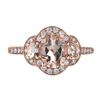 Morganite Ladies Ring