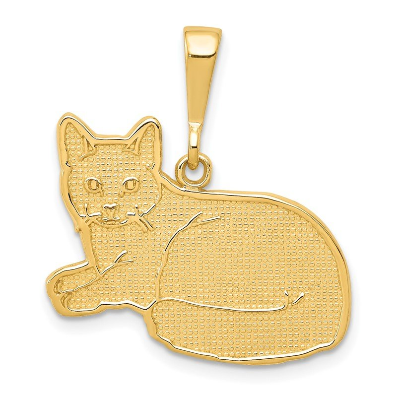 Quality Gold 14k Russian Blue Cat Pendant