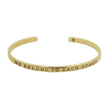 Write On Cuff Brass - We Belong To Each Other