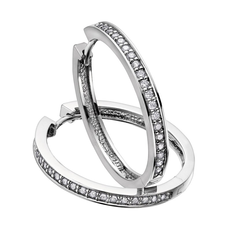 Timeless Beauty Diamond Hoop Earrings