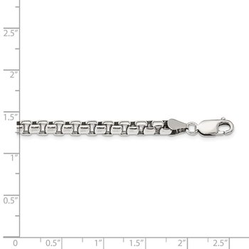 Sterling Silver Antiqued 5.2mm Round Box Chain