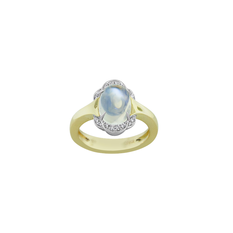 Spark Creations Moonstone & Diamond Ring