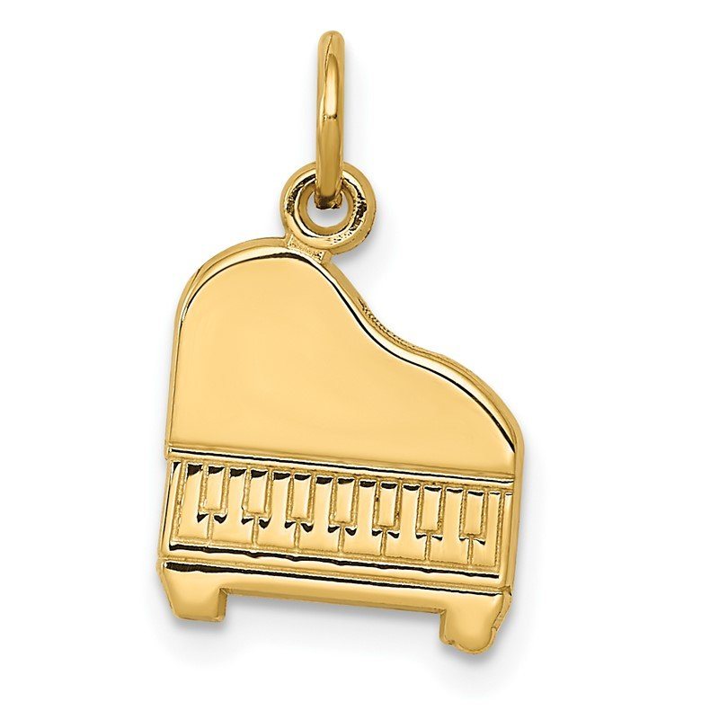 Quality Gold 14k Piano Charm