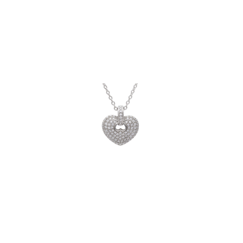 Diamond Heart Pendant with Chain
