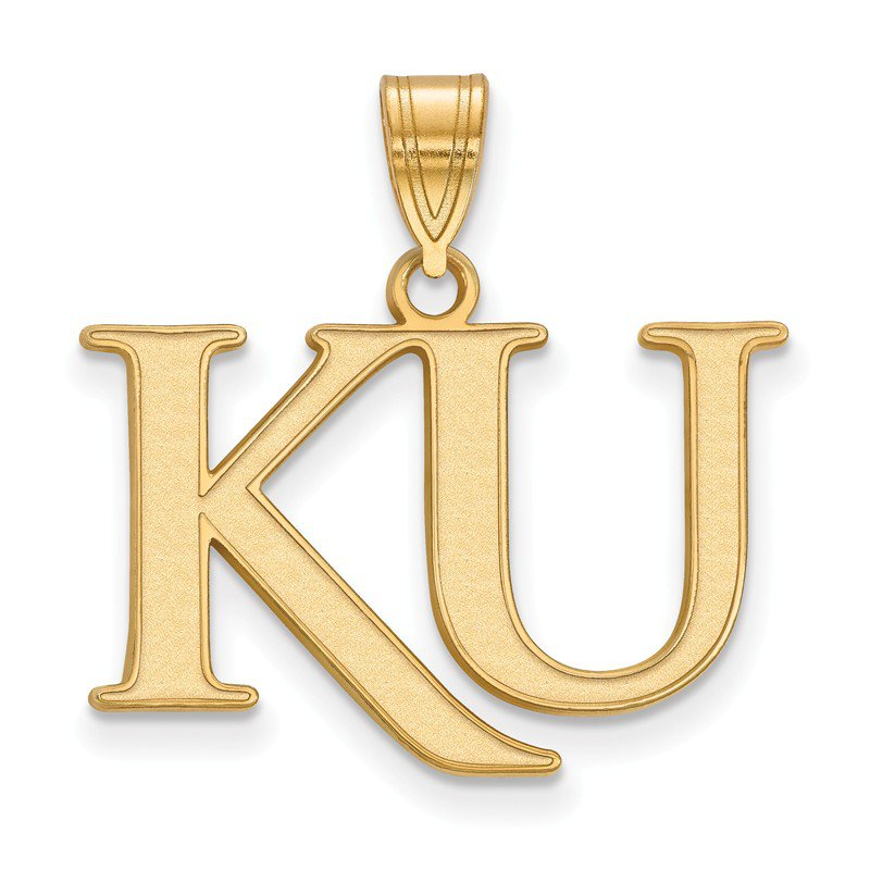 NCAA Gold-Plated Sterling Silver University of Kansas NCAA Pendant
