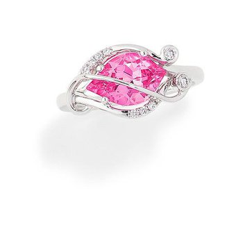 Pink Sapphire Ring-CR9792WPS