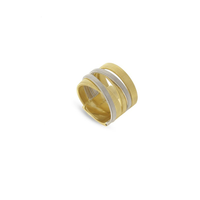 Marco Bicego Masai Yellow and White Gold Five Strand Ring