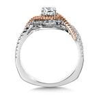 Valina Bridals Halo Engagement Ring Mounting in 14K White/Rose Gold (.32 ct. tw.)