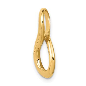 14k Fits up to 3mm Regular/6mm Fancy/Reversible Fancy Omega Slide