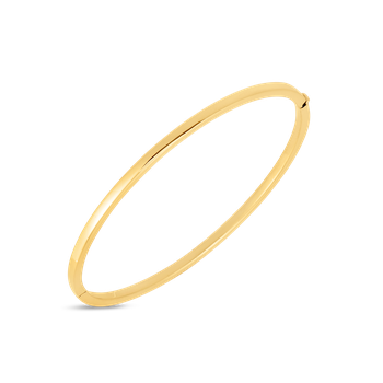 18KT GOLD OVAL BANGLE