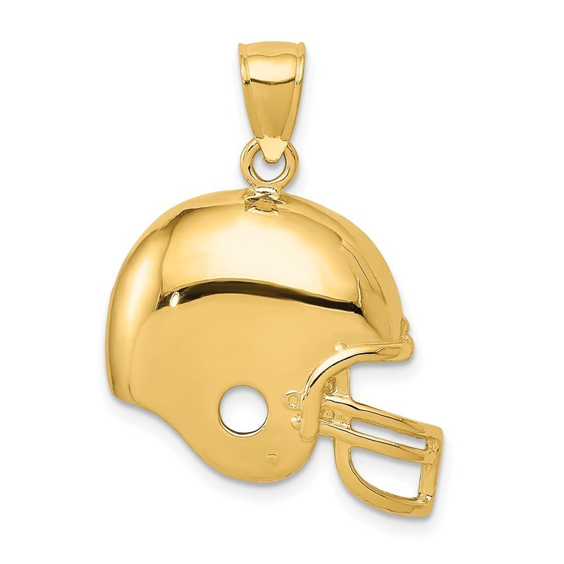 Quality Gold 14k Football Helmet Pendant