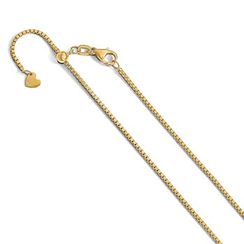 Leslie's 14K Adjustable 1.2mm Box Chain