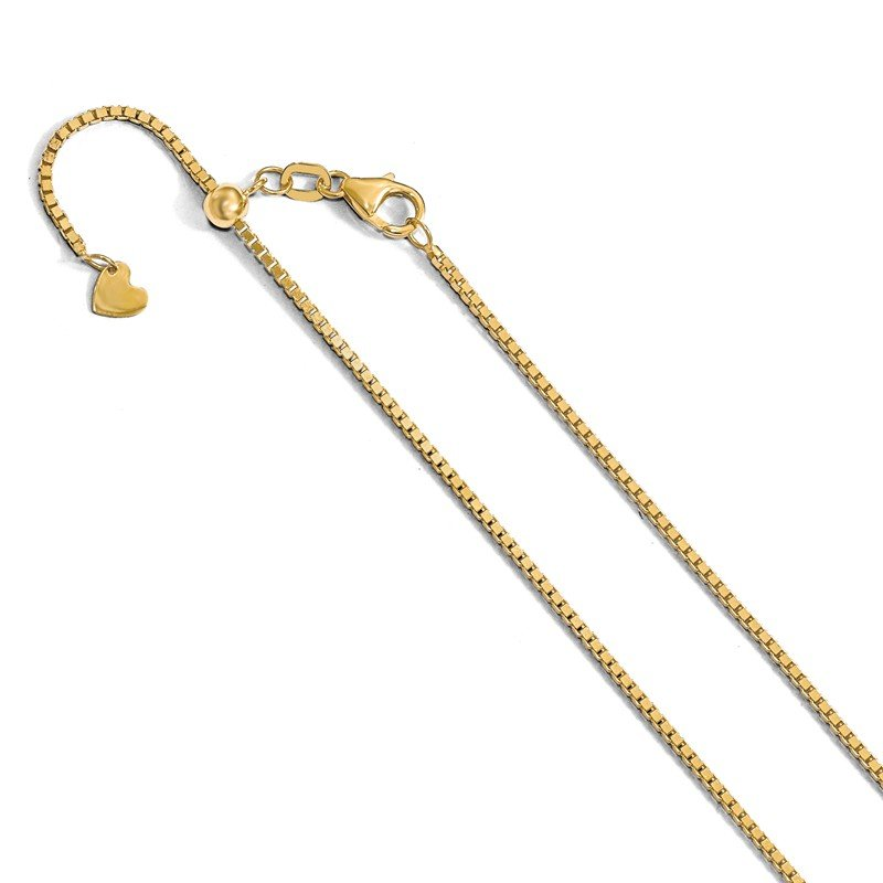 Leslie's Leslie's 14K Adjustable 1.2mm Box Chain