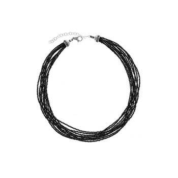 Ten Strand 2.5Mm Black Spinel Beaded Necklace