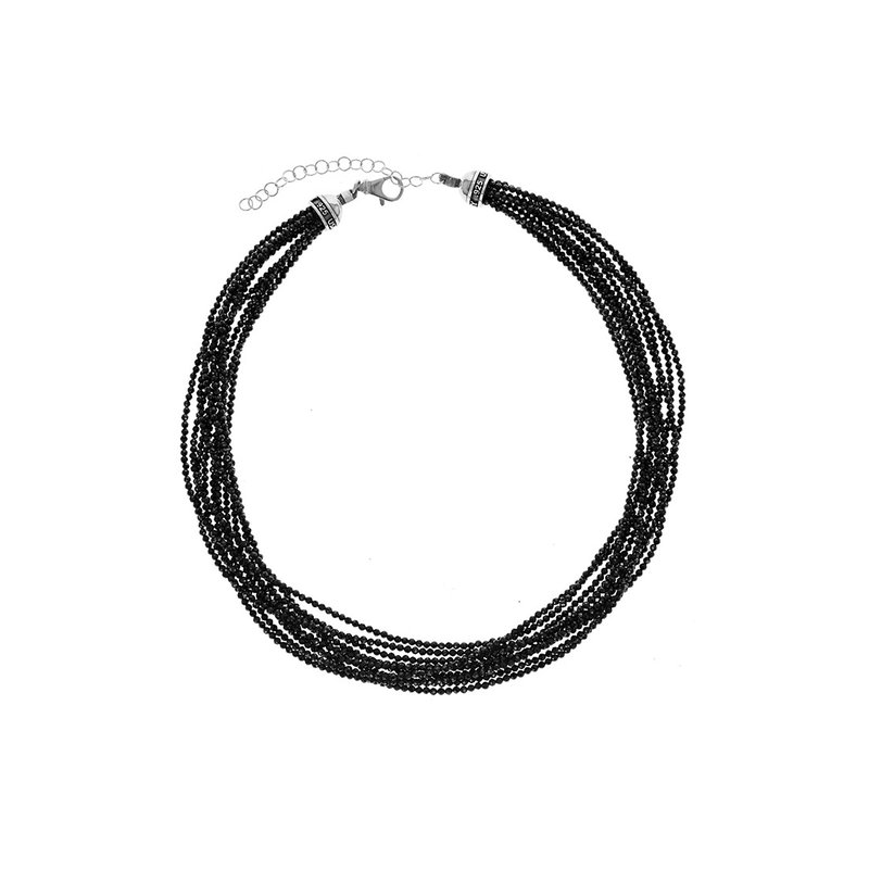 King Baby Ten Strand 2.5Mm Black Spinel Beaded Necklace