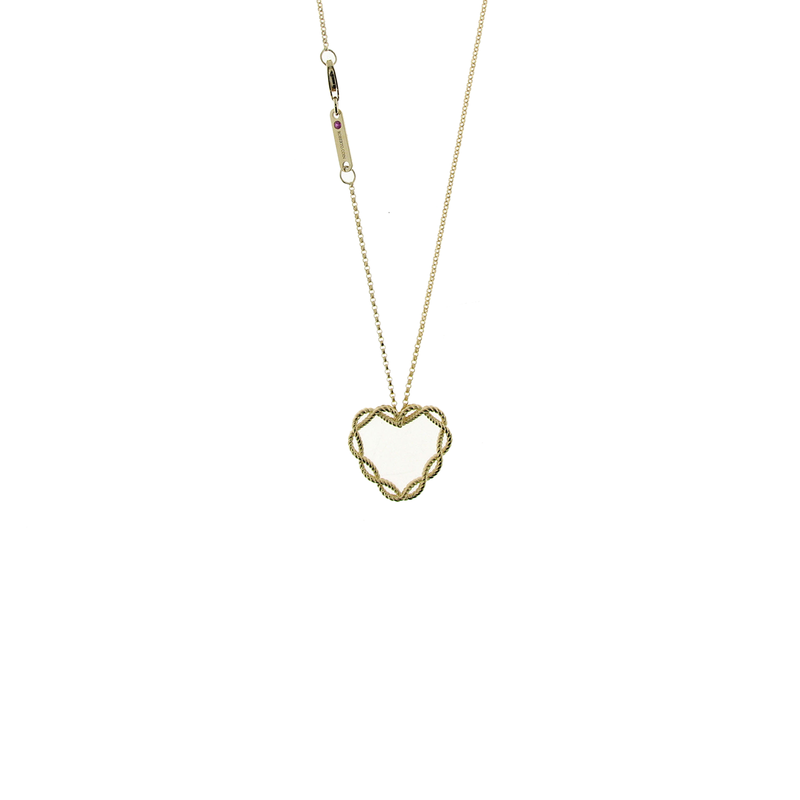 Roberto Coin 18Kt New Barocco Open Heart Pendant