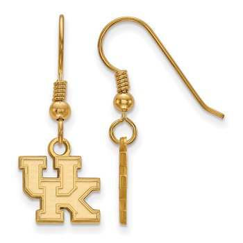 Gold-Plated Sterling Silver University of Kentucky NCAA Earrings